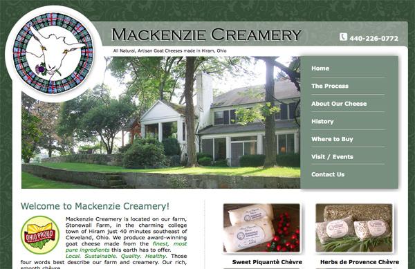 Mackenzie Creamery Web Site