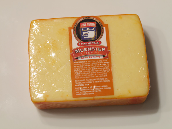 Sunday Dinners: August 29, 2010: Muenster Cheese