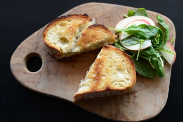 Gruyere Grilled Cheese With Shallots And Thyme