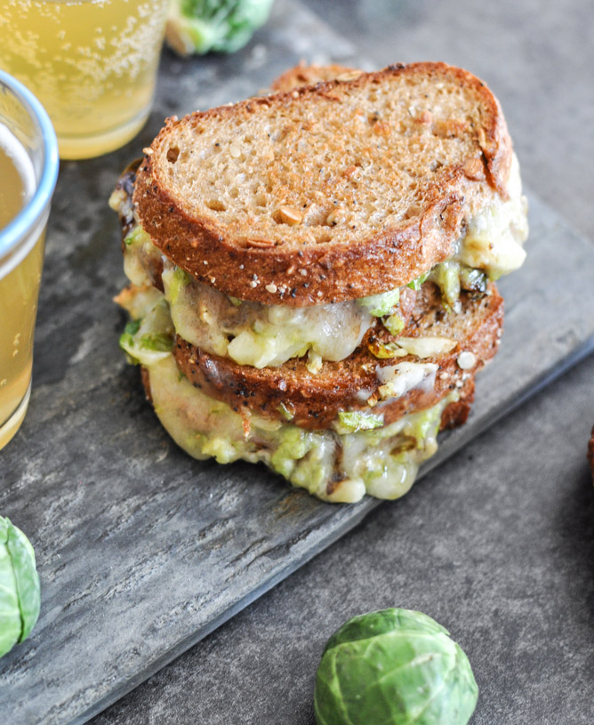 Balsamic Brussels Sprouts Grilled Cheese