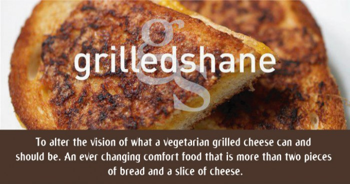 To alter the vision of what a vegetarian grilled cheese can and  should be. An ever changing comfort food that is more than two pieces  of bread and a slice of cheese.